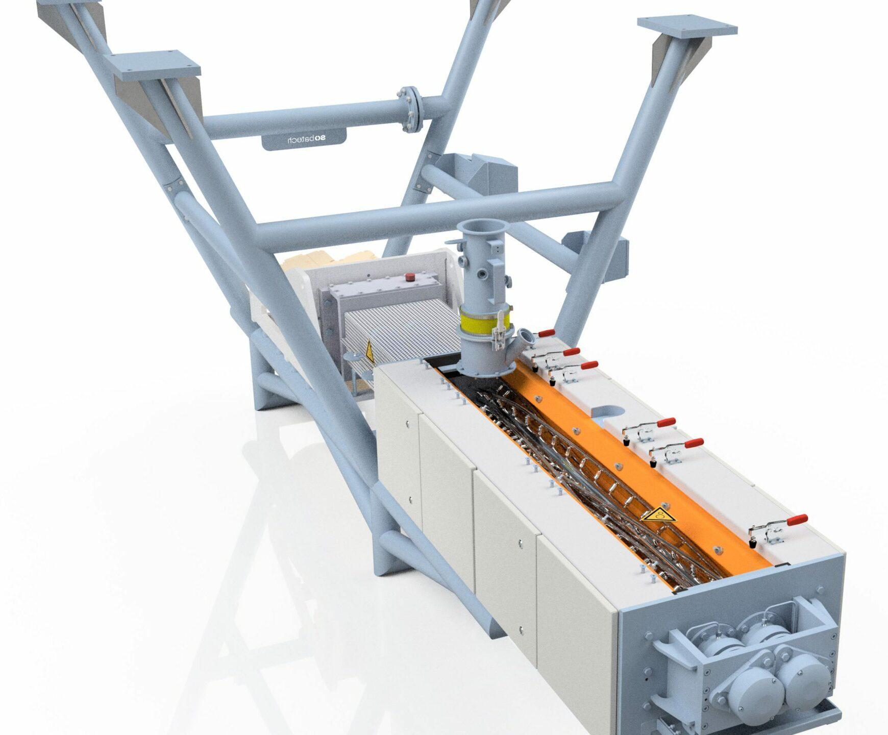 Industrial dough mixer - hygienic design