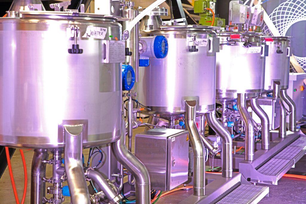 Sobatech continuous dosing pumps incl. storage tanks