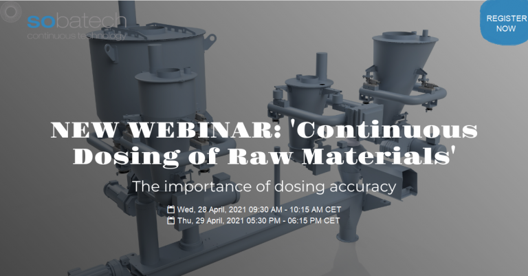 Webinar on the continuous dosing of raw materials