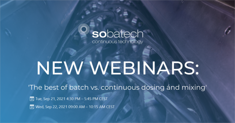 webinar; 'the best of batch vs. continuous dosing ánd mixing'